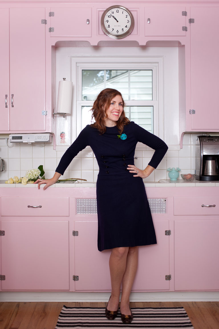 Sarah's pink kitchen