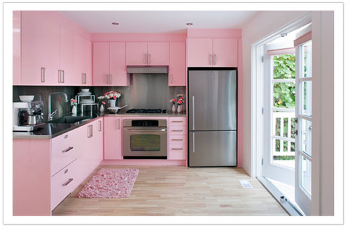 Atomic Pink Vintage Kitchen Retro Inspiration Board At