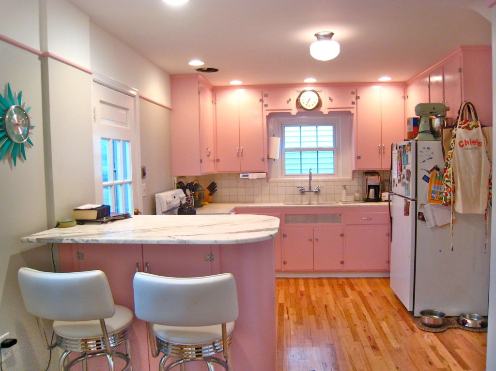 The unveiling of my renovated kansas city retro kitchen for Kitchen cabinets 50 style