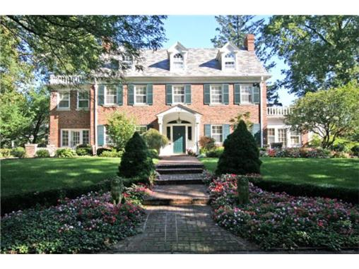 Pick of the week stately brick georgian colonial in for Brick georgian homes