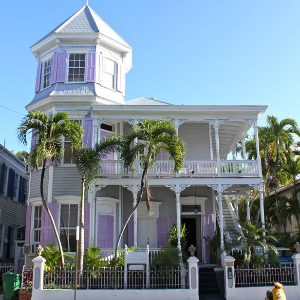 At home in brookside on vacation the victorians for Elevated key west style house plans