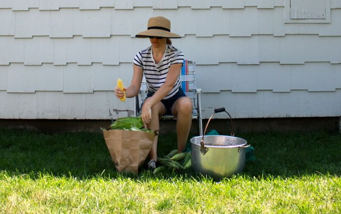 thatu0027s me shucking corn in my favorite vintage aluminum lawn chair - Folding Lawn Chairs On Sale
