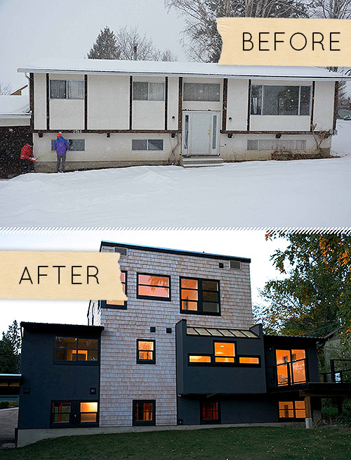 Before And After Split Level Home Renovation Featured On Design Sponge