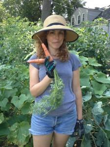 photo of sarah in garden