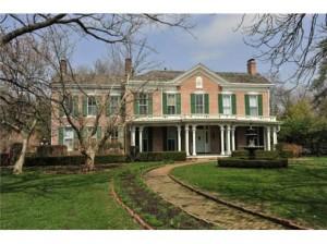 photo of brick southern plantation mansion home