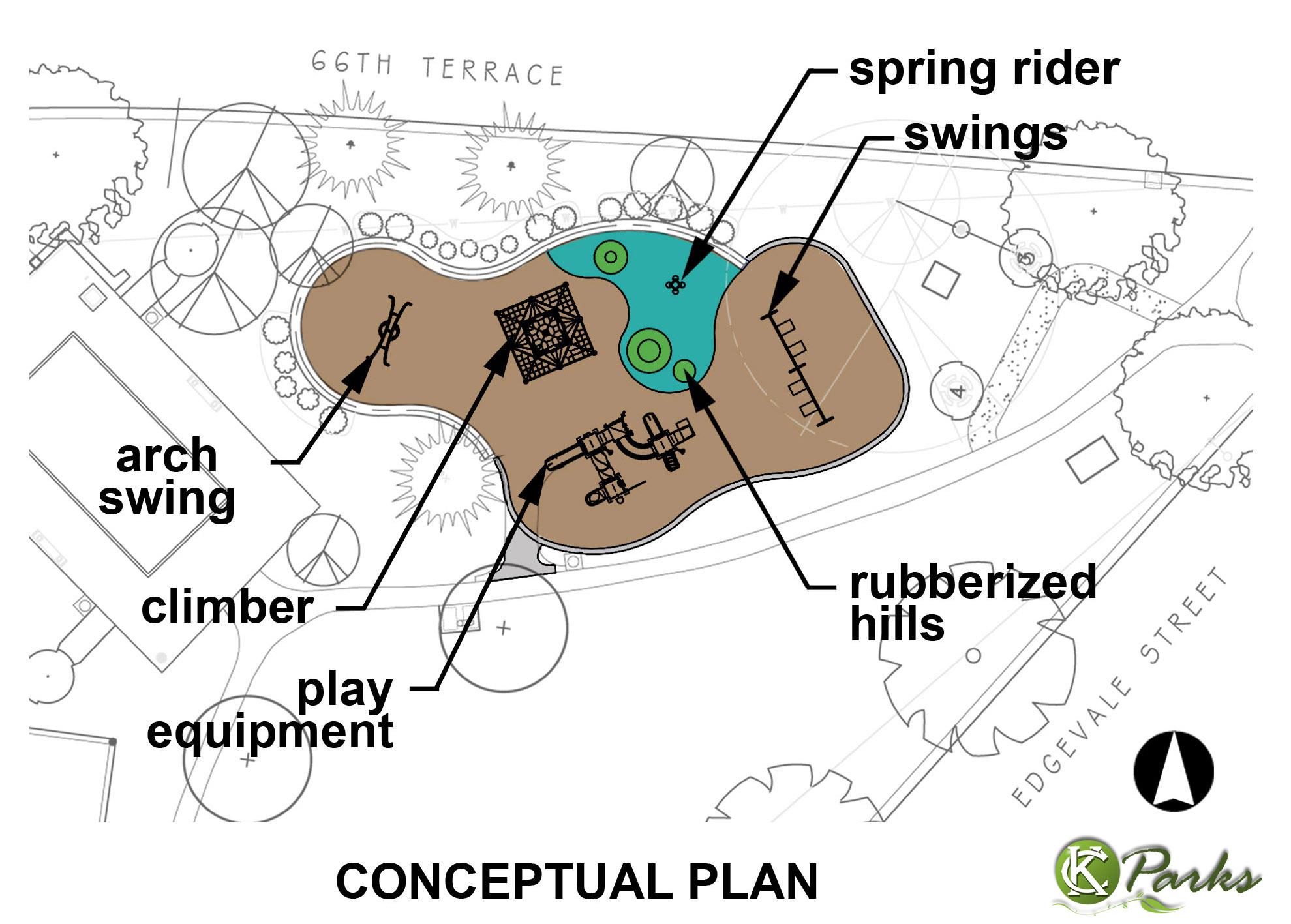 Arbor Villa Park Playground plan image